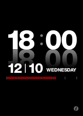 「at:time」のiPhone版、時計アプリとして登場!