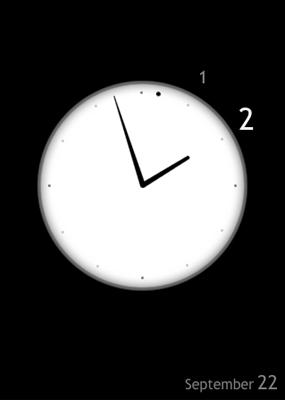 曖昧な「時」をそのままに。時計アプリ:『SignClock』。
